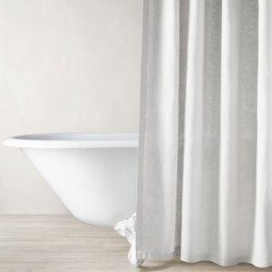 restoration hardware belgian linen shower curtain